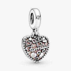 Pandora Love Makes A Family Heart Dangle Charm